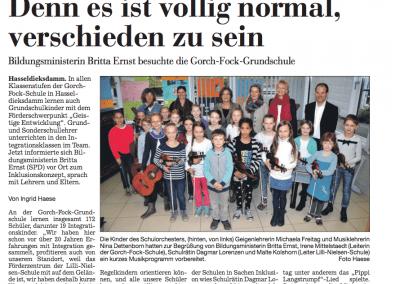 Bildungsministerin besuchte die Gorch-Fock-Schule