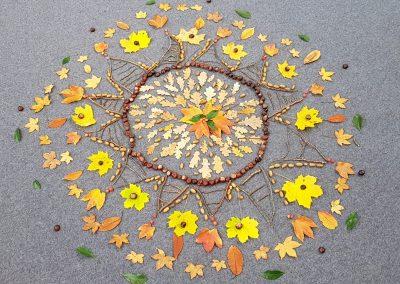 Herbstmandala Blätter